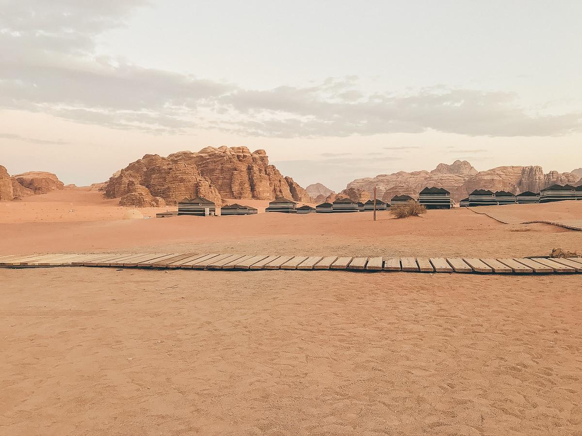 Wüstencamp in der Wadi Rum Wüste