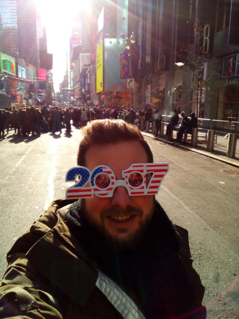 Silvester in New York City - Ball Drop am Times Square