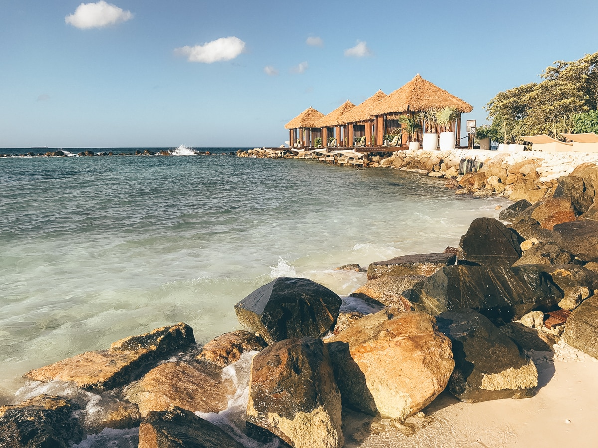 Der Flamingo Beach auf Aruba
