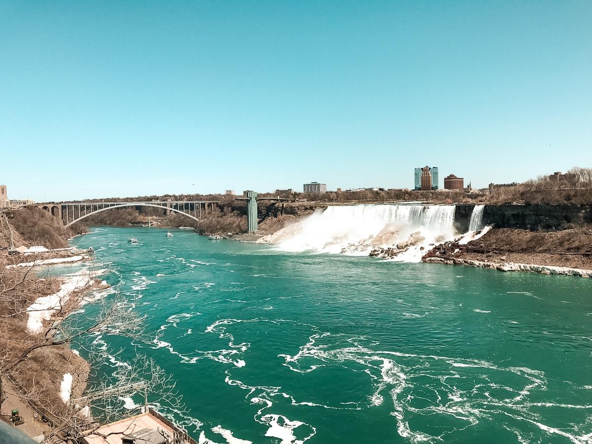 Kanadische Seite der Niagarafälle