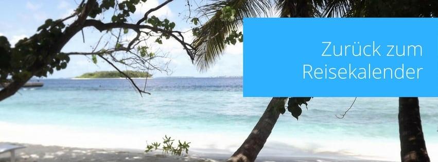 Strandurlaub Reisekalender